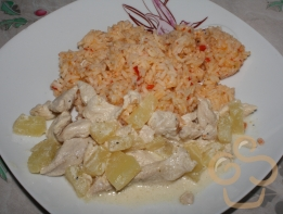 Chickenbreast with pineapple