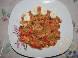 Letcho with eggs