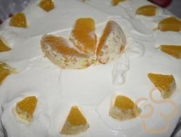 Tort cu brânză şi portocale