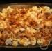 Layered cauliflower with minced meat, ready