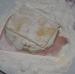 A sajto sonkás padlizsánt lisztbe mártjuk