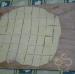 Cut square pieces with a dough scraper
