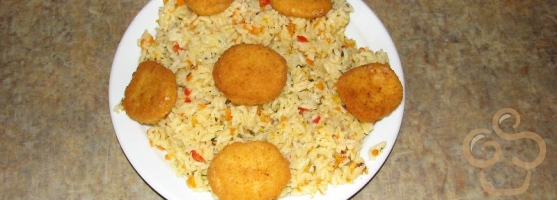Rice with carrots